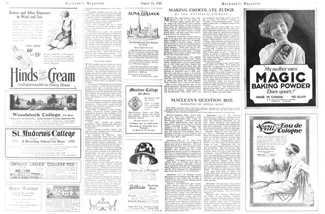 Article Preview: MACLEAN'S QUESTION BOX, August 1925 | Maclean's