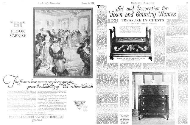 Article Preview: Art and Decoration for Town and Country Homes, August 1925 | Maclean's