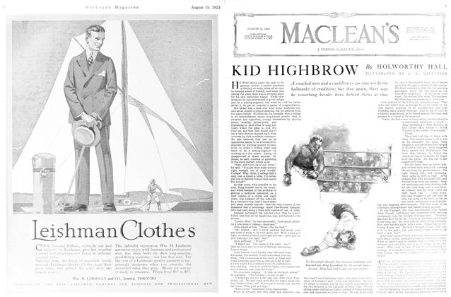 Article Preview: KID HIGHBROW, August 1925 | Maclean's