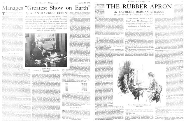 Article Preview: THE RUBBER APRON, August 1925 | Maclean's