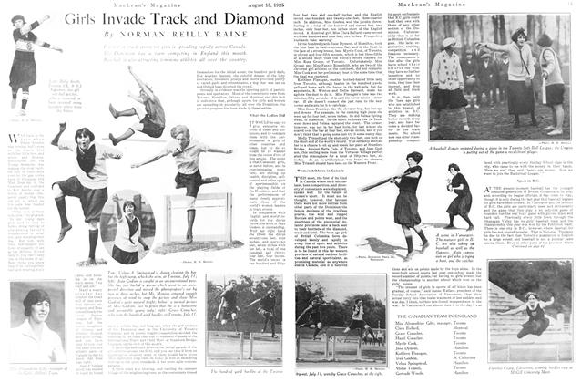 Article Preview: Girls Invade Track and Diamond, August 1925 | Maclean's
