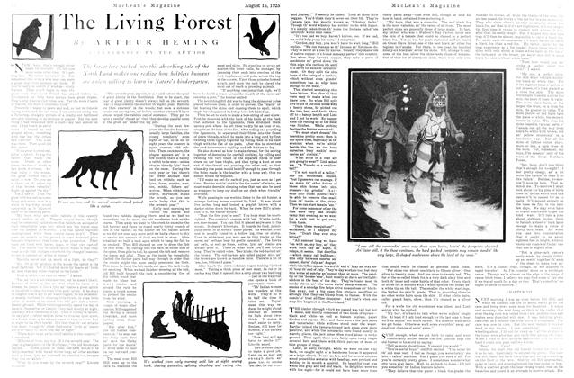 Article Preview: The Living Forest, August 1925 | Maclean's