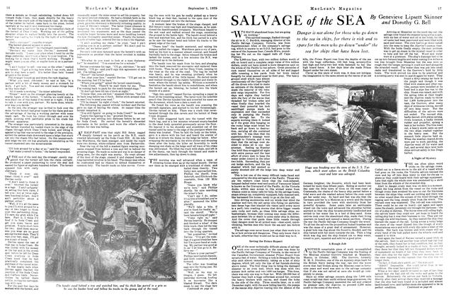 Article Preview: SALVAGE of the SEA, September 1925 | Maclean's
