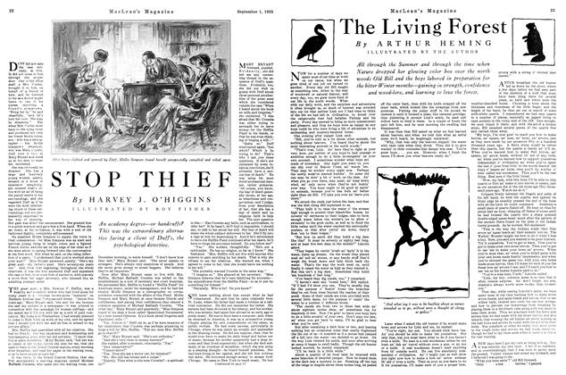 Article Preview: The Living Forest, September 1925 | Maclean's
