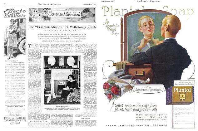 "Article Preview: The ""Fragrant Minutes"" of Wilhelmina Stitch, September 1925 