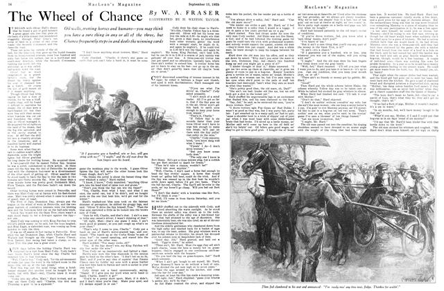 Article Preview: The Wheel of Chance, September 1925 | Maclean's