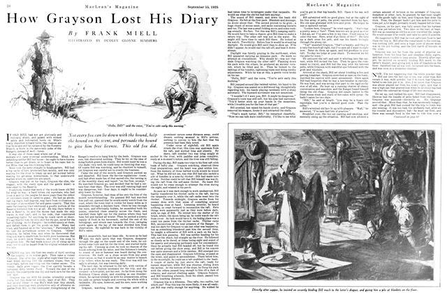 Article Preview: How Grayson Lost His Diary, September 1925 | Maclean's