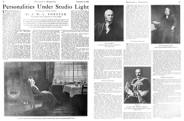 Article Preview: Personalities Under Studio Light, September 1925 | Maclean's