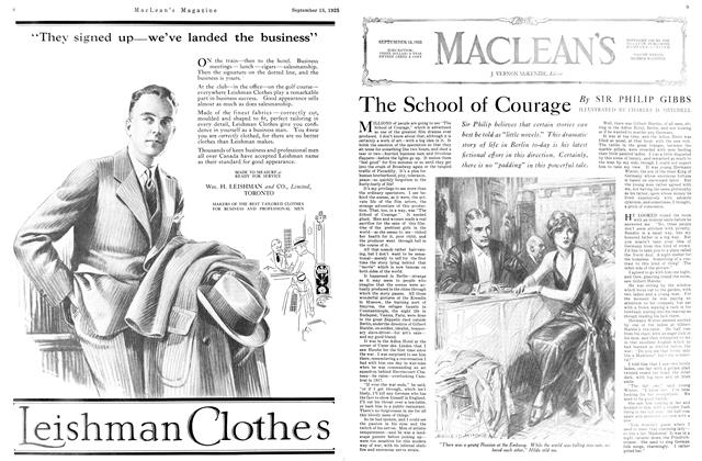 Article Preview: The School of Courage, September 1925 | Maclean's