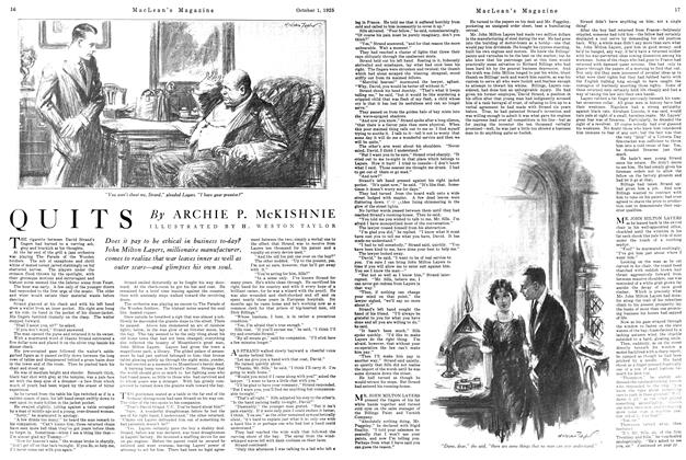 Article Preview: QUITS, October 1925 | Maclean's