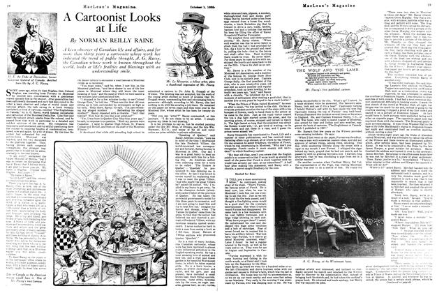 Article Preview: A Cartoonist Looks at Life, October 1925 | Maclean's