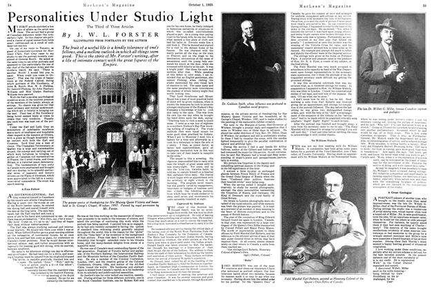 Article Preview: Personalities Under Studio Light, October 1925 | Maclean's
