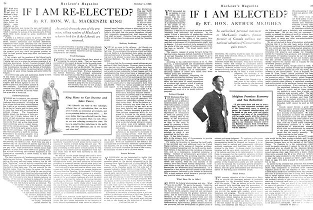 Article Preview: IF I AM RE-ELECTED?, October 1925 | Maclean's