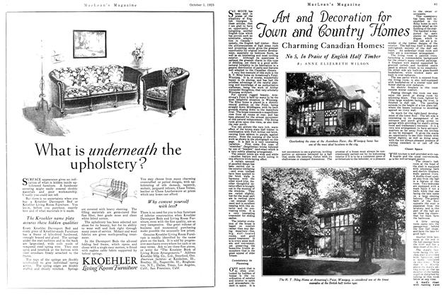 Article Preview: Art and Decoration for Town and Country Homes, October 1925 | Maclean's