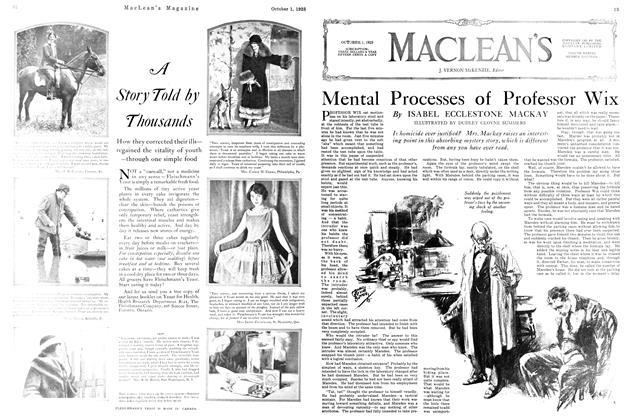 Article Preview: Mental Processes of Professor Wix, October 1925 | Maclean's