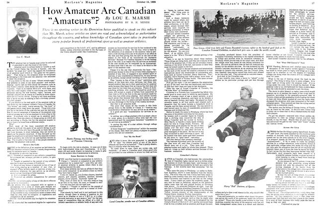 "Article Preview: How Amateur Are Canadian ""Amateurs""?, October 15th 1925 1925 