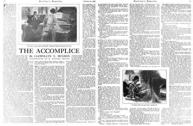 Article Preview: THE ACCOMPLICE, October 15th 1925 1925 | Maclean's