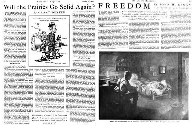 Article Preview: FREEDOM, October 15th 1925 1925 | Maclean's
