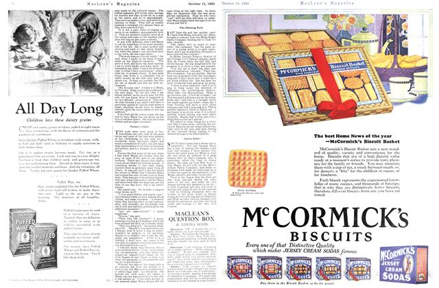 Article Preview: MACLEAN'S QUESTION BOX, October 15th 1925 1925 | Maclean's