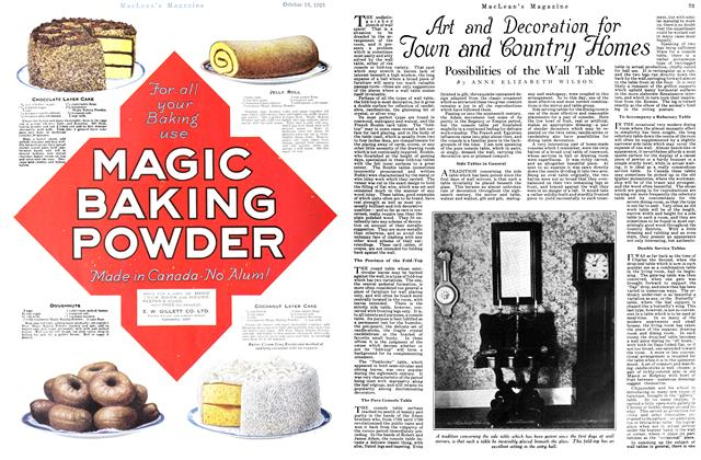 Article Preview: Art and Decoration for Town and Country Homes, October 15th 1925 1925 | Maclean's