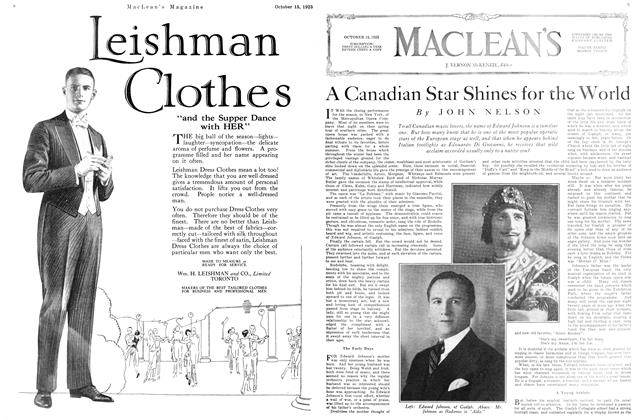 Article Preview: A Canadian Star Shines for the World, October 15th 1925 1925 | Maclean's