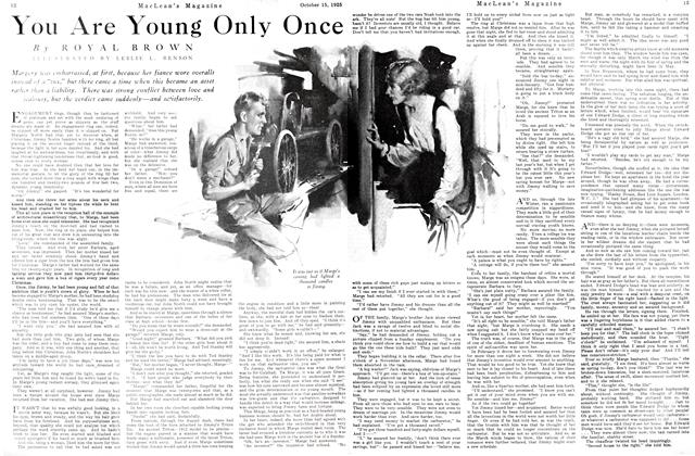 Article Preview: You Are Young Only Once, October 15th 1925 1925 | Maclean's