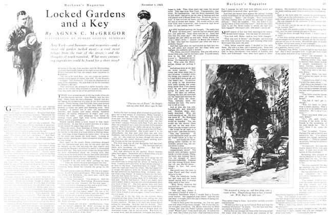 Article Preview: Locked Gardens and a Key, November 1925 | Maclean's