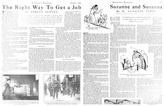 Article Preview: The Right Way To Get a Job, November 1925 | Maclean's