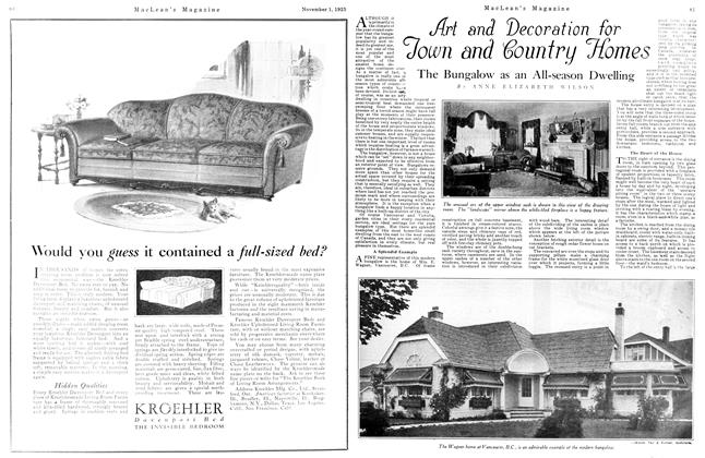 Article Preview: Art and Decoration for Town and country Homes, November 1925 | Maclean's