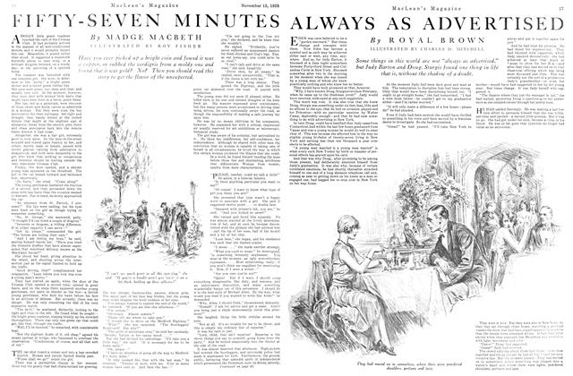 Article Preview: ALWAYS AS ADVERTISED, November 15TH 1925 1925 | Maclean's