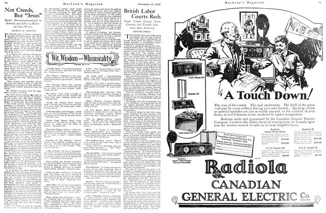 Article Preview: British Labor Courts Reds, November 15TH 1925 1925   Maclean's