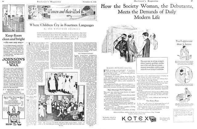 Article Preview: Where Children Cry in Fourteen Languages, November 15TH 1925 1925 | Maclean's