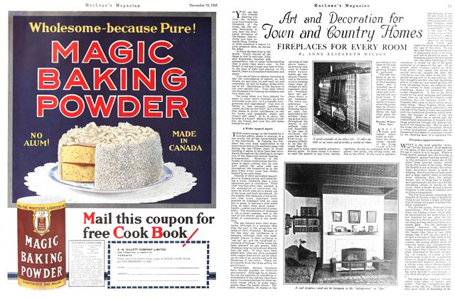 Article Preview: Art and Decoration for Down and Country Dio mes, November 15TH 1925 1925 | Maclean's