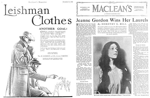 Article Preview: Jeanne Gordon Wins Her Laurels, November 15TH 1925 1925 | Maclean's