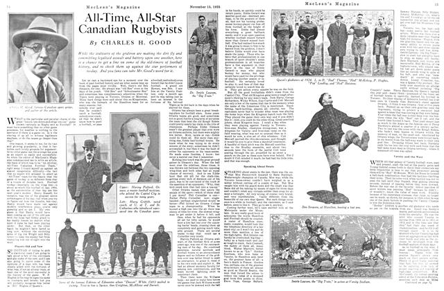 Article Preview: All-Time, All-Star Canadian Rugbyists, November 15TH 1925 1925 | Maclean's