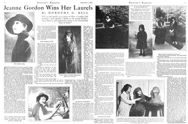 Article Preview: Jeanne Gordon Wins Her Laurels, December 1925 | Maclean's