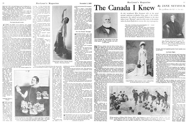 Article Preview: The Canada I Knew, December 1925 | Maclean's