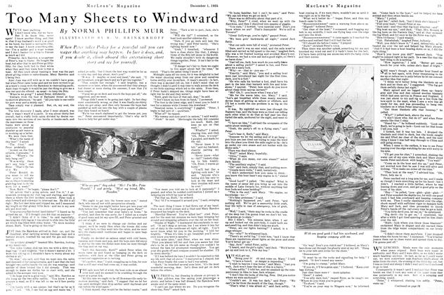Article Preview: Too Many Sheets to Windward, December 1925 | Maclean's