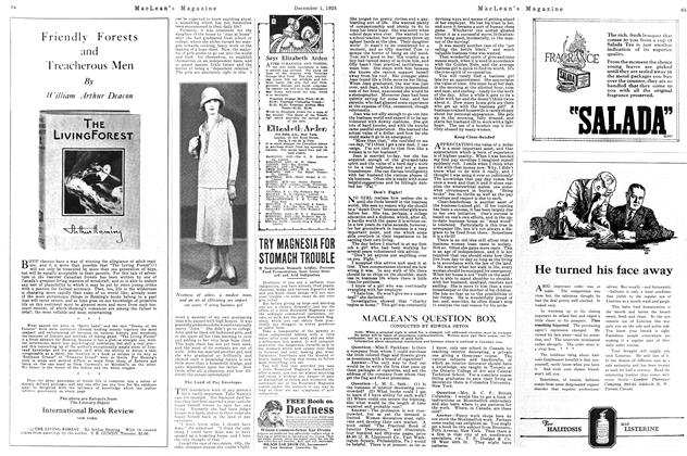 Article Preview: MACLEAN'S QUESTION BOX, December 1925 | Maclean's
