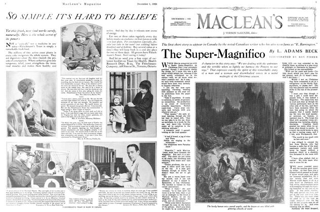 Article Preview: The Super-Magnifico, December 1925 | Maclean's