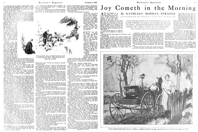 Article Preview: Joy Cometh in the Mornin, December 1925 | Maclean's