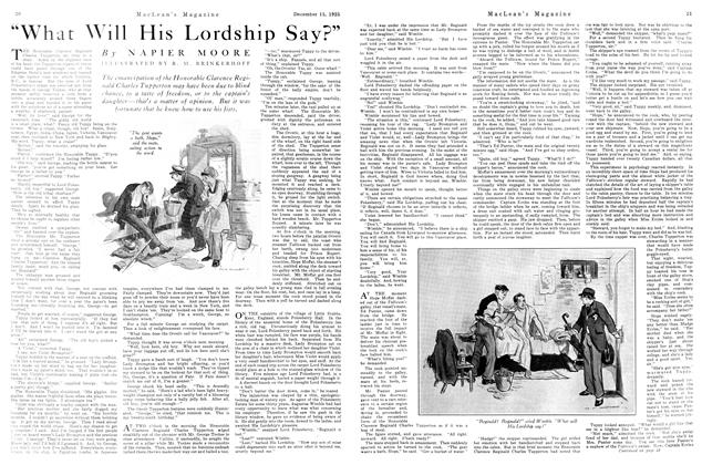 "Article Preview: ""What Will His Lordship Say?"", December 1925 