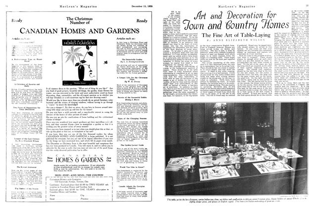 Article Preview: Art and Decoration for Town and Country Homes, December 1925 | Maclean's