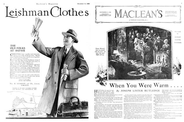 Article Preview: When You Were Warm...., December 1925 | Maclean's