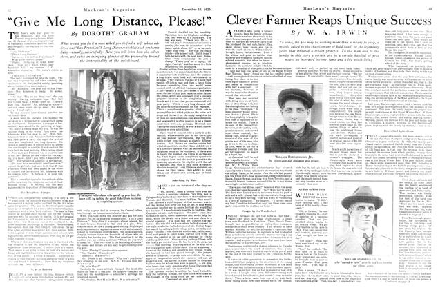 Article Preview: Clever Farmer Reaps Unique Success, December 1925 | Maclean's