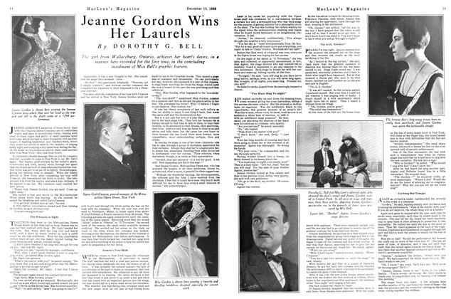 Article Preview: Jeanne Gordon Wins Her Laurels, December 1925 | Maclean's