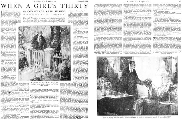 Article Preview: WHEN A GIRL'S THIRTY, January 1926 | Maclean's