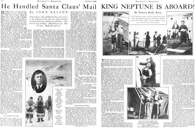 Article Preview: KING NEPTUNE IS ABOARD!, January 1926 | Maclean's
