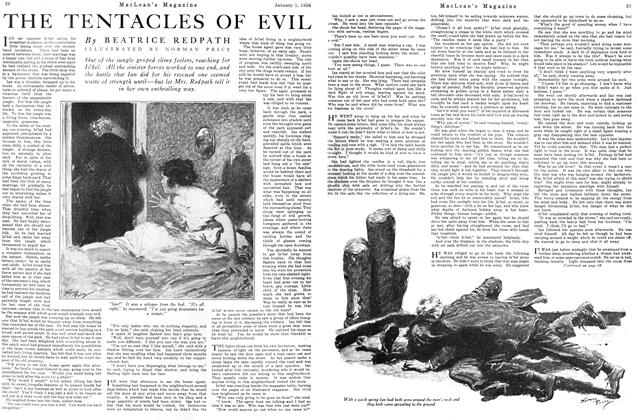 Article Preview: THE TENTACLES OF EVIL, January 1926 | Maclean's