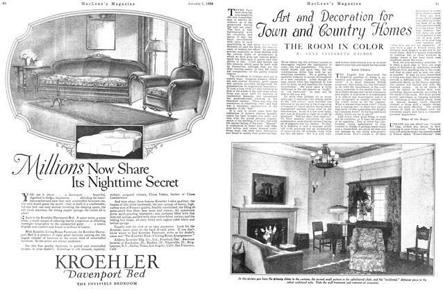 Article Preview: Art and Decoration for Town and Country Homes, January 1926 | Maclean's